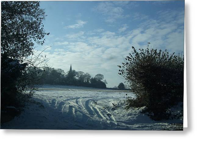 Sledge Training Greeting Cards - Snowy Morning Greeting Card by Jean Walker