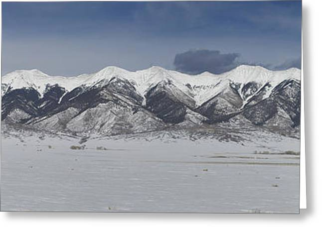 Big Sister Greeting Cards - Snowy Mountains Greeting Card by Aaron Spong