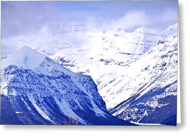 Beautiful Scenery Greeting Cards - Snowy mountains Greeting Card by Elena Elisseeva