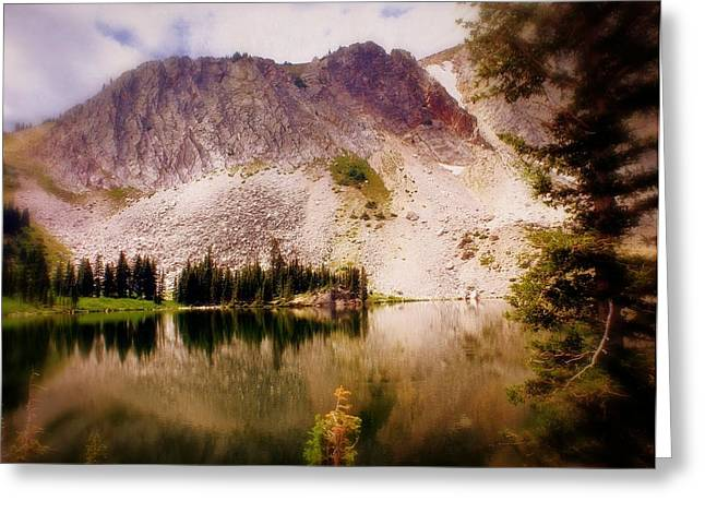Marty Koch Greeting Cards - Snowy Mountains Loop 2 Greeting Card by Marty Koch