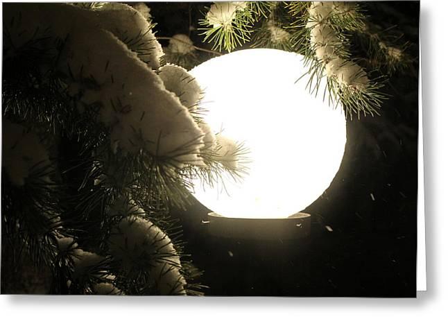 Snowy Night Greeting Cards - Snowy Night Greeting Card by Fiona Kennard