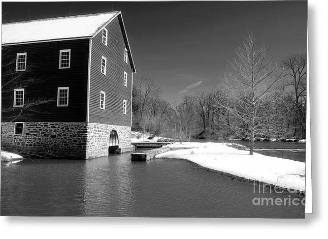Old Home Place Greeting Cards - Snowy River Greeting Card by John Rizzuto