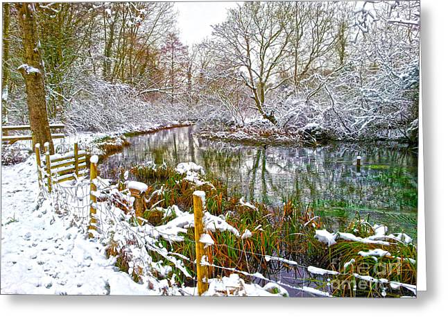 Snowy Day Digital Greeting Cards - Snowy Rookwood Greeting Card by Andrew Middleton