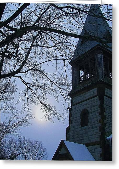 Concord. Winter Greeting Cards - Snowy Sunday Greeting Card by Jeff Heimlich