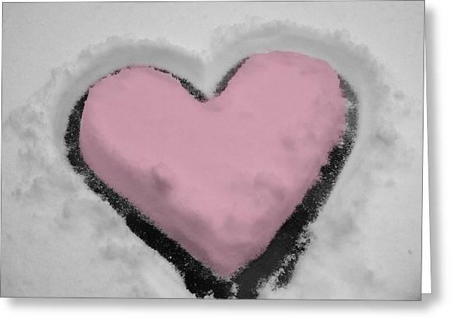 Jennifer Lamanca Kaufman Greeting Cards - Snowy Valentines Day Greeting Card by Jennifer Lamanca Kaufman
