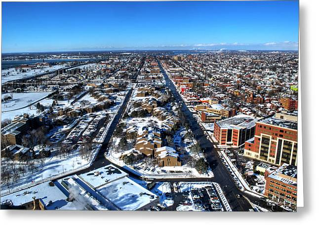 Snowy West Side Winter 2013 Greeting Card by Michael Frank Jr