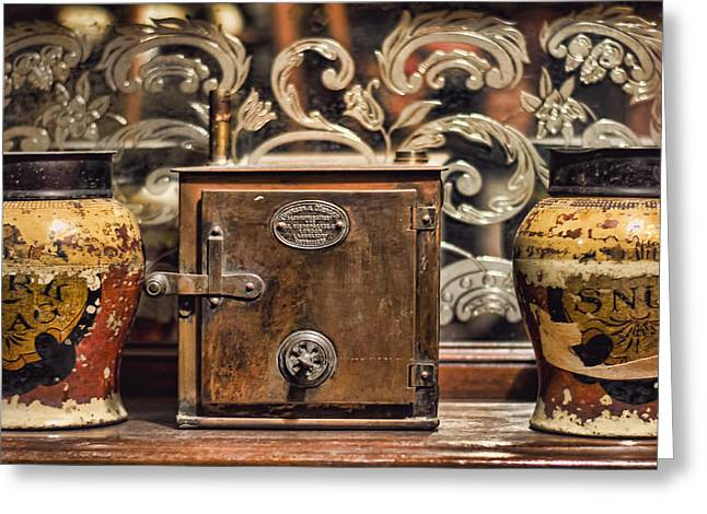 Smoker Greeting Cards - Snuff Jars Greeting Card by Heather Applegate