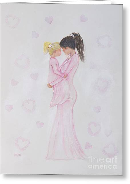 Pajamas Greeting Cards - Snuggle Bug Greeting Card by Leslie Allen
