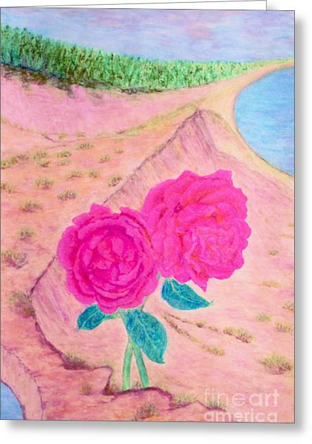 Sandy Beaches Pastels Greeting Cards - Snuggle  Greeting Card by W Weiye