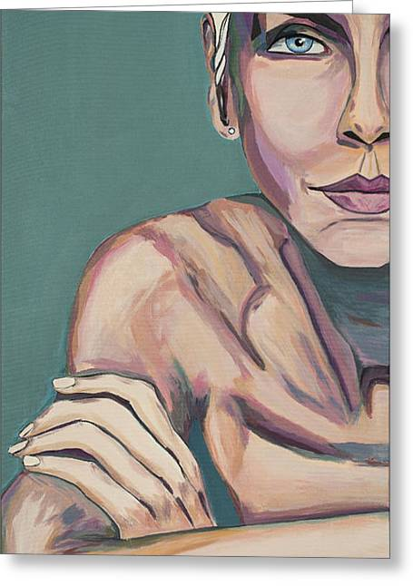 Annie Lennox Greeting Cards - So Baby talk to me Greeting Card by Christel  Roelandt
