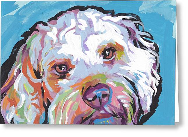 Dog Portraits Greeting Cards - So Cocky Greeting Card by Lea
