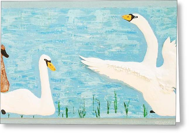 Lake Reliefs Greeting Cards - So Long Boys Greeting Card by Alberto H-B