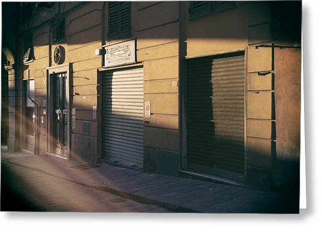 Downtown Genoa Greeting Cards - So long sun.. Greeting Card by A Rey
