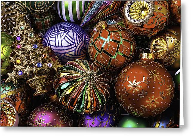 Spheres Greeting Cards - So Many Beautiful Ornaments Greeting Card by Garry Gay