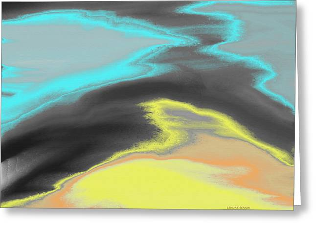 Abstract Digital Paintings Greeting Cards - So Many Pathways Greeting Card by Lenore Senior