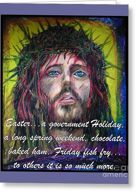 Resurrection Drawings Greeting Cards - So Much More Greeting Card by John Malone Halifax Graphic Arts