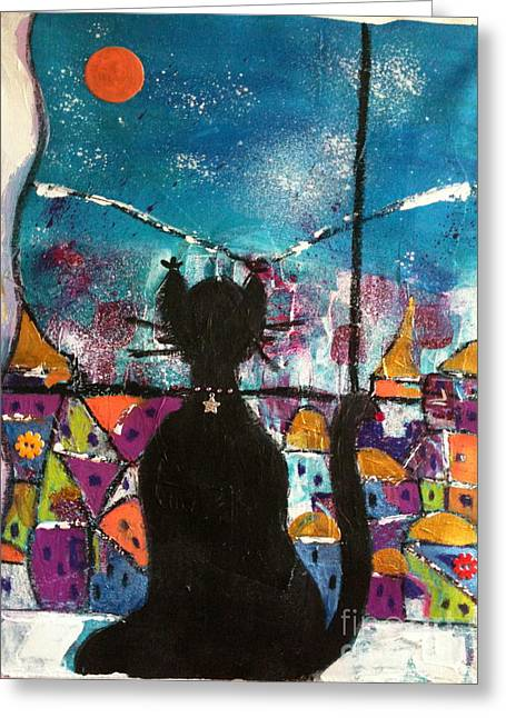Clever Paintings Greeting Cards - So much to discover  Greeting Card by Corina  Stupu Thomas