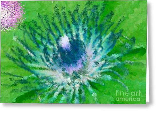 Discrimination Digital Art Greeting Cards - So What Purple Green Purple Greeting Card by Holley Jacobs