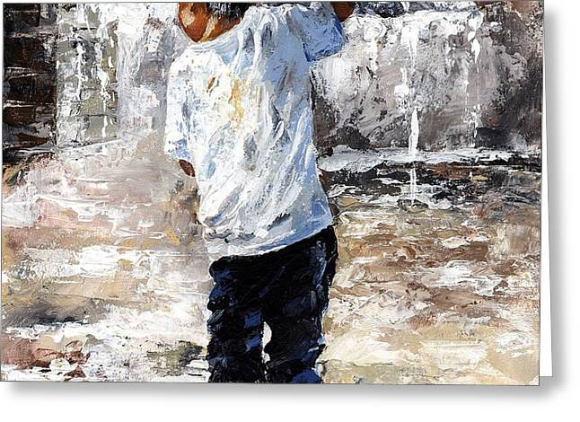 Soaked Greeting Card by Emerico Imre Toth