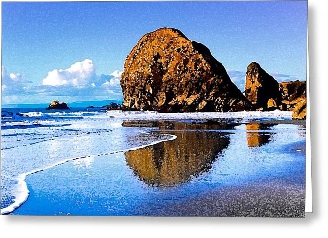 California Ocean Photography Drawings Greeting Cards - Soaking up the Sun Greeting Card by Cole Black