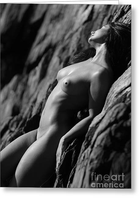 Nude Photos Greeting Cards - Soaking Up The Sun Greeting Card by Exposed Arts