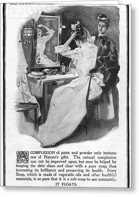 Dressing Room Photographs Greeting Cards - Soap Advertisement, 1902 Greeting Card by Granger