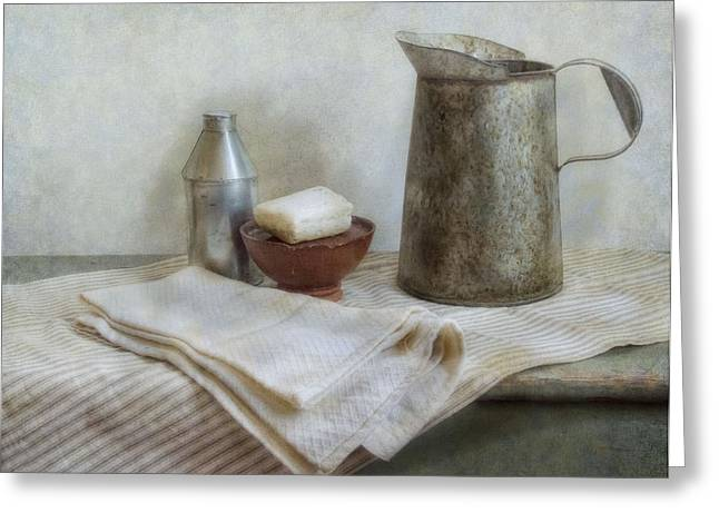 Bathroom Wall Art Greeting Cards - Soap and Water Greeting Card by Robin-lee Vieira