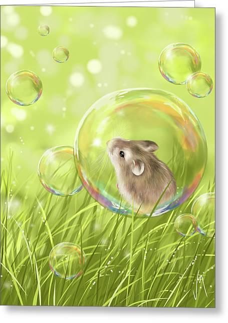 Soap Bubble Greeting Card by Veronica Minozzi