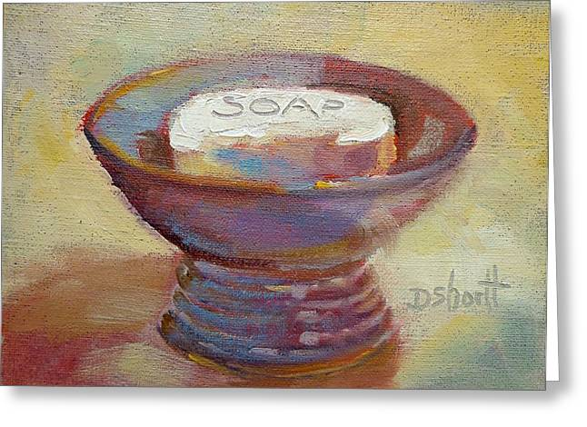 Soap Dish Greeting Card by Donna Shortt