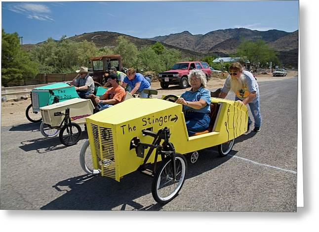 Soapbox Derby Greeting Card by Jim West