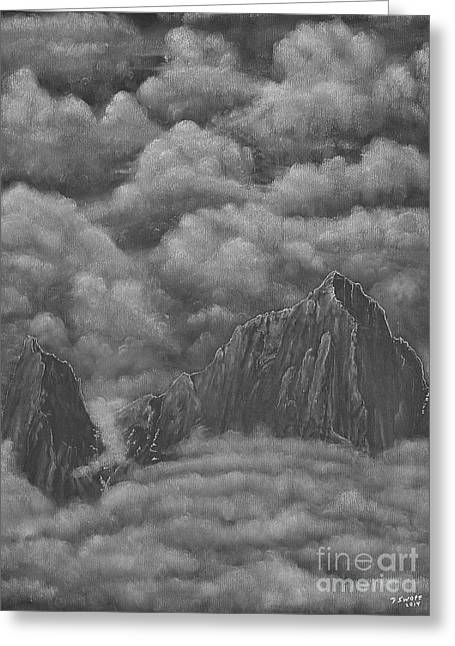 Mt Drawings Greeting Cards - Soaring Above Greeting Card by David Swope