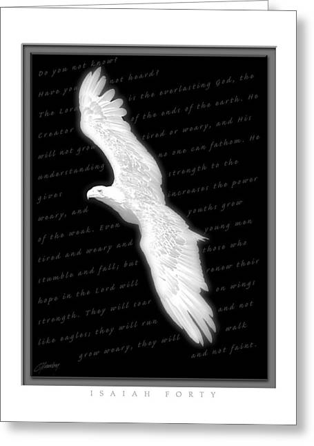 Soaring - Isaiah Forty Greeting Card by Cliff Hawley