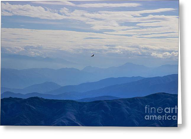 Ease Greeting Cards - Soaring Over The Misty Andes Greeting Card by Al Bourassa