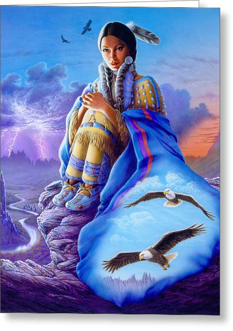 Maidens Greeting Cards - Soaring Spirit Greeting Card by Andrew Farley
