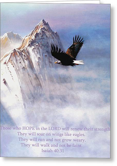 Robert Foster Greeting Cards - Soaring Wings Greeting Card by Robert Foster