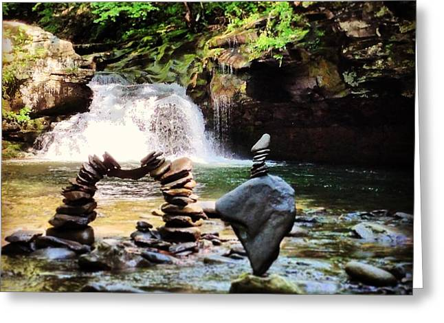 Waterfall Sculptures Greeting Cards - Sober  Greeting Card by Tyler Borchert