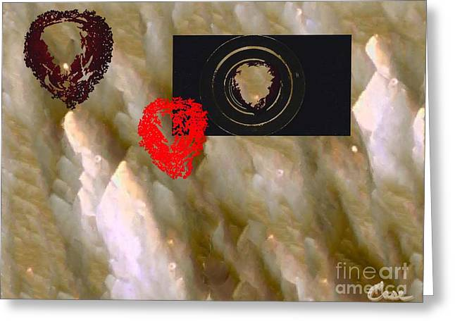 Luna Mixed Media Greeting Cards - Sobre La Luna Greeting Card by Feile Case