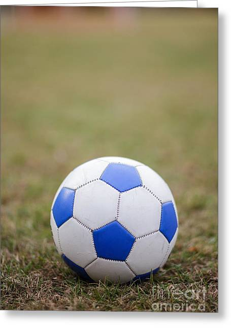Sports Equipment Greeting Cards - Soccer Ball Greeting Card by Edward Fielding