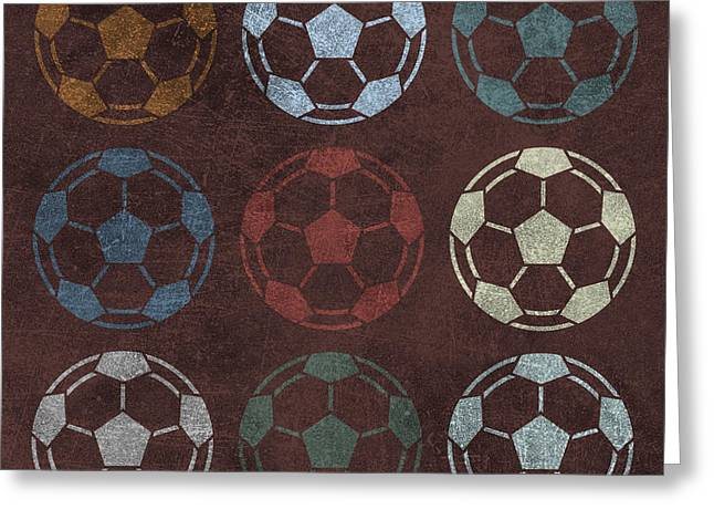 Soccer Balls 9 Greeting Card by Flo Karp