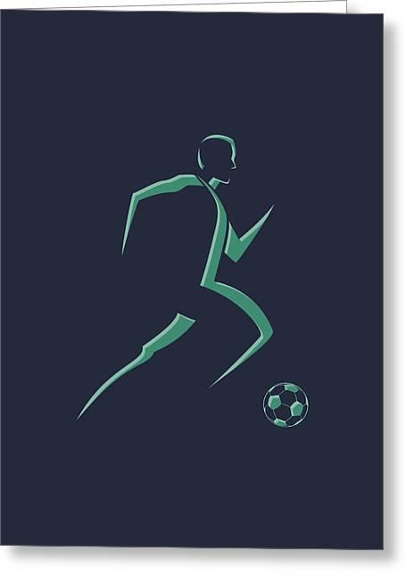Earthquake Greeting Cards - Soccer Player1 Greeting Card by Joe Hamilton