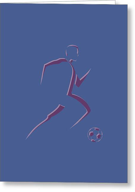 Earthquake Greeting Cards - Soccer Player2 Greeting Card by Joe Hamilton