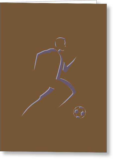 Earthquake Greeting Cards - Soccer Player5 Greeting Card by Joe Hamilton