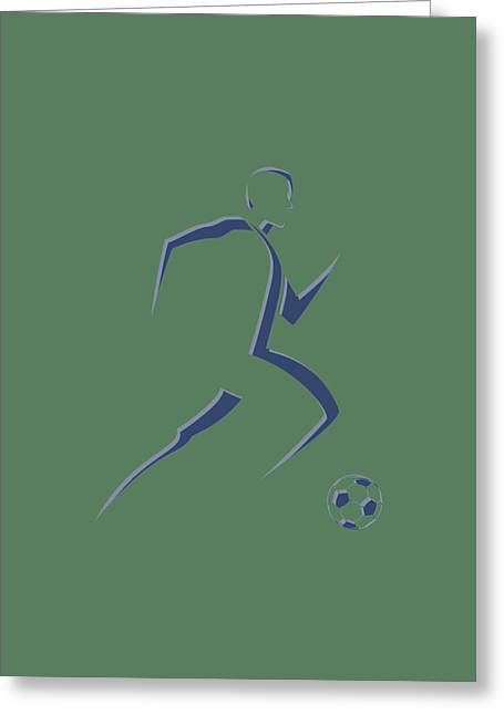 Soccer Player6 Greeting Card by Joe Hamilton