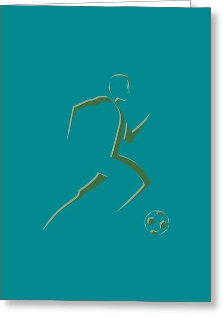 Earthquake Greeting Cards - Soccer Player7 Greeting Card by Joe Hamilton
