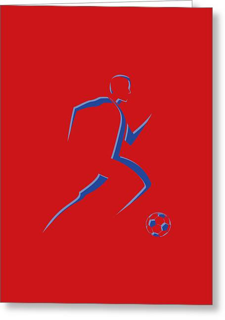 Earthquake Greeting Cards - Soccer Player8 Greeting Card by Joe Hamilton
