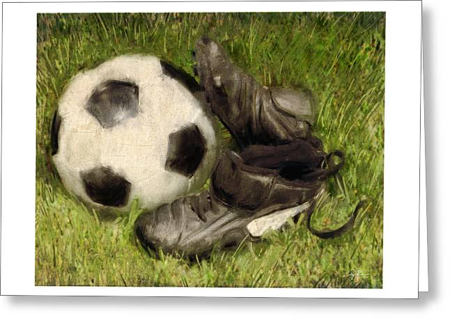 Win Digital Greeting Cards - Soccer Practice Greeting Card by Craig Tinder