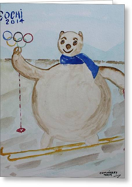 Sochi 2014 Winter Olympics Greeting Cards - Sochi Greeting Card by Roger Cummiskey