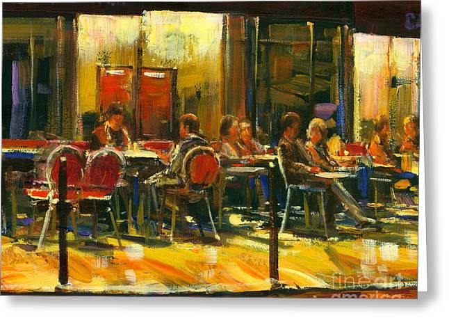 Socializing Greeting Card by Michael Swanson