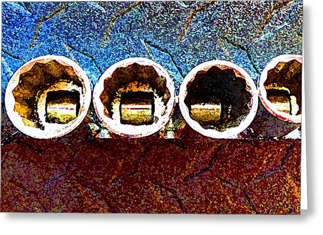 Decorator Set Greeting Cards - Socket Set Paintstyle Greeting Card by Laurie Tsemak