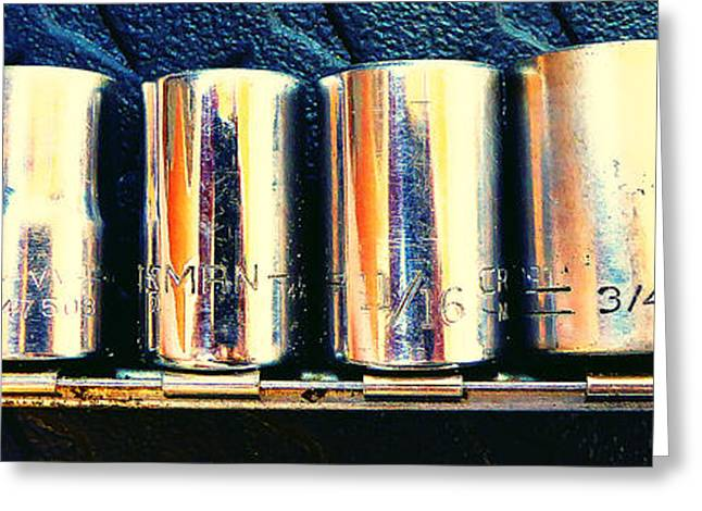 Decorator Set Greeting Cards - Socket Set Greeting Card by Laurie Tsemak
